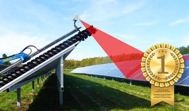 Limpeza de placas de energia solar