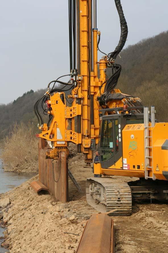 Máquina para fazer fundação